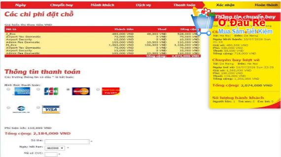 Giá vé trên VietJet Air