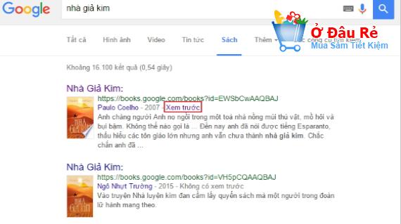 Bạn có thể đọc sách bản quyền miễn phí tại Google Book