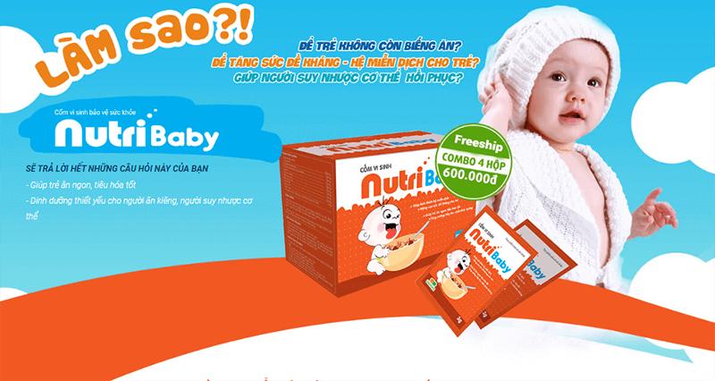 Cốm vi sinh bảo vệ sức khỏe Nutri Baby Plus, Không Còn Nỗi Lo Trẻ Biếng Ăn Thiếu Chất